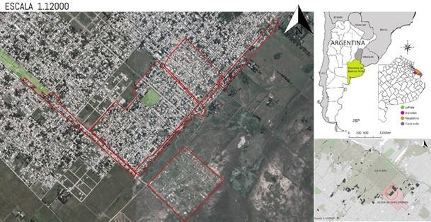 Figura 1.  Localización del Barrio Puente de Fierro.