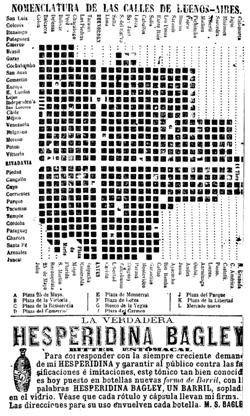 Nomenclatura de las calles de Buenos-Aires, en Coni, 1868, p. 16. Dimensiones 15 x 9.5 cm.
