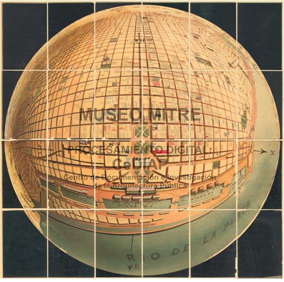 [Autor anónimo] 1895. Dimensiones 107 x 107 cm, sin escala. Museo Mitre, ID: 8036-00272.