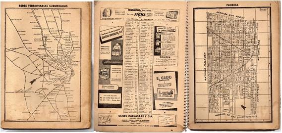 Fig. 2. Páginas interiores:  página 3 (redes ferroviarias suburbanas); página 6 y 7 (Florida)