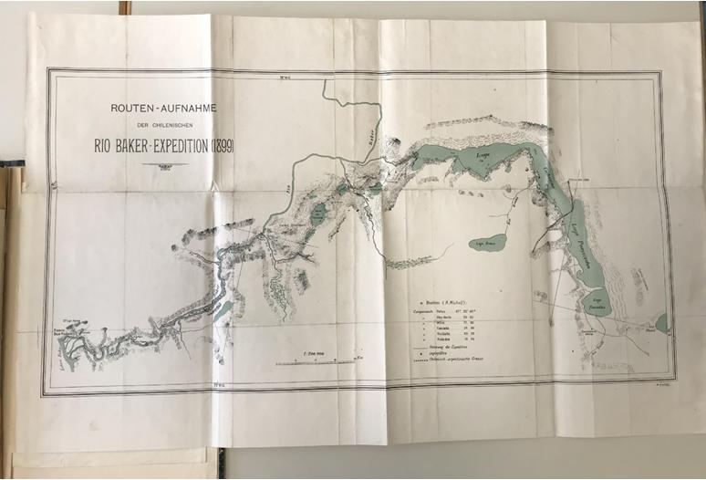 Comisión exploradora del  Canal Baker I. Mapa impreso con base en los datos compilados en la expedición  de 1899.